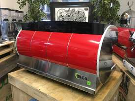 WEGA CONCEPT 3 GROUP ESPRESSO COFFEE MACHINE RED - picture3' - Click to enlarge