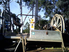 optic fibre winch on tray ex Telstra ,  - picture0' - Click to enlarge