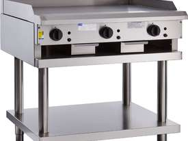 900mm Griddle with legs & shelf - picture0' - Click to enlarge