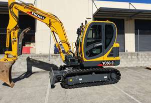 NEW MODEL Yuchai YC60-9 6ton excavator with a/c cabin