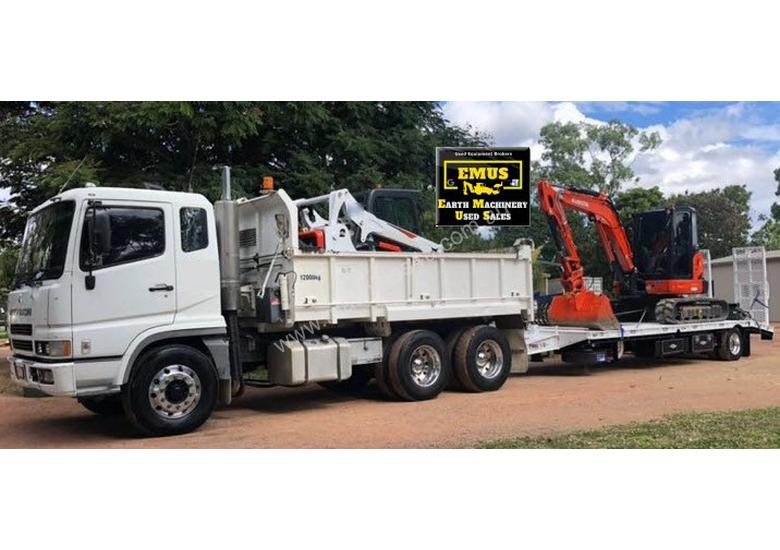 Combo Tipper, Excavator 2018, Bobcat 2018, Tag Trailer 2019 with work. TS493
