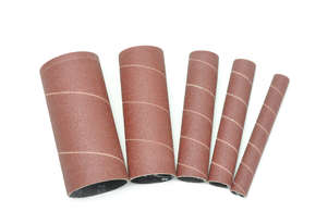 5Pce x 115mm x 100G Sanding Sleeves 50-45100 for use with 50-300 Oscillating Bobbin Sander by Rikon