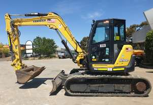 2017 YANMAR SV100-2 EXCAVATOR WITH RUBBER TRACKS AND 1900 HOURS