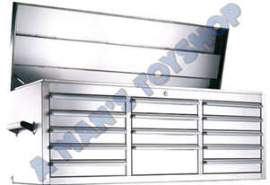 TOOLBOX 14 DRAWER 1370MM STAINLESS STEEL