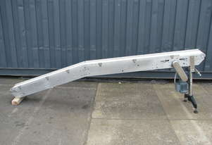 Stainless Incline Motorised Belt Conveyor - 3m long