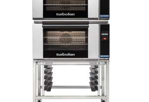 Turbofan E27T3 - Full Size Electric Convection Ovens Touch Screen Control Double Stacked on a Stainl