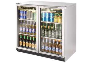 Williams BC2SS-80 Bottle Cooler Glass 2 Door Refrigerator