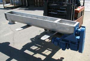 Stainless Auger Feeder Screw Conveyor - 2.1m long