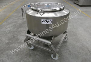 Powder Hopper Stainless Steel Capacity 300Lt.