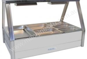 Roband E23 - Double Row Straight Glass Hot Foodbar