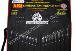 TOOLTEC Combination Wrench Set AF/Metric 24 Piece