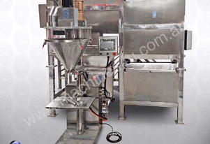 Mixing-Packing line: Ribbon Blender with Conveyor