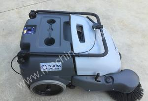 Walk behind sweeper complete with battery and battery charger, 12 months warranty.