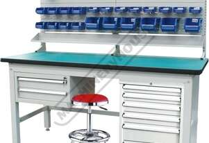 IWB-40P5 Industrial Work Bench Package Deal 1800 x 750 x 1725mm 1000kg Table Top Load Capacity