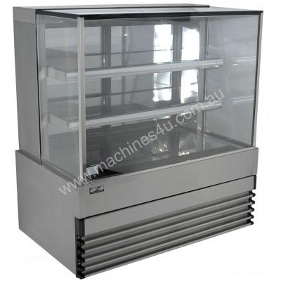 Koldtech KT.SQRCD.9 Square Glass Refrigerated Cake Display 3 Fixed Shelves - 900mm