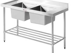 Simply Stainless 1800 Double Sink Bench SS06.1800