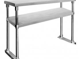 NEW STAINLESS STEEL BENCH LAY OVER SHELF 2 TIER  - picture0' - Click to enlarge