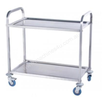 NEW STAINLESS STEEL BENCH LAY OVER SHELF 2 TIER