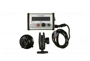 Agricultural Tractor And Corn Front Headsight Sensors Efficient Job