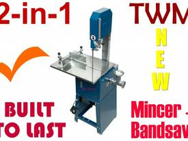Meat Cutting Band Saw & Mincer Free extra Blade