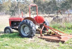 Massey Ferguson Tractor with slasher