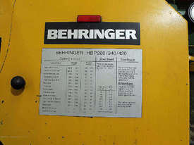 Behringer HBP 260A Automatic horizontal bandsaw - picture4' - Click to enlarge