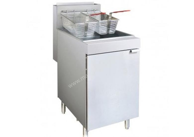 F.E.D. - RC400TLPG - SUPERFAST LPG GAS TUBE 4 BURNER FRYER WITH TWIN VAT FRYER