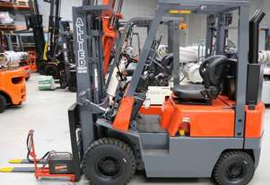 NISSAN 1500KG Flame proof diesel forklift. Remote electric start. Class 1, zone 2