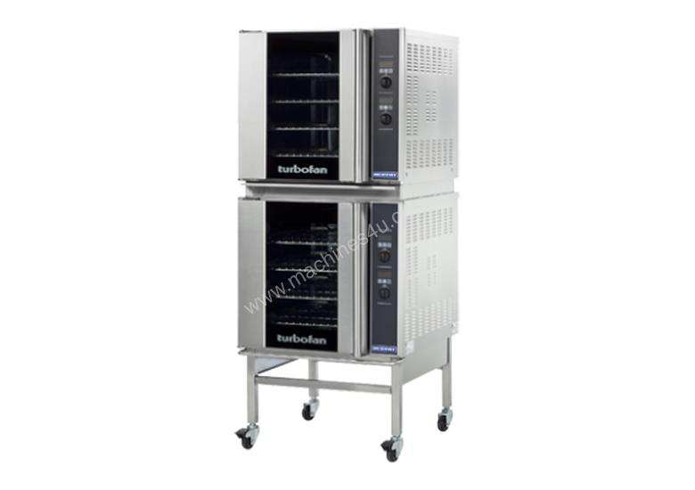Turbofan E32D4/2C - Full Size Tray Digital Electric Convection Ovens Double Stacked With Castor Base