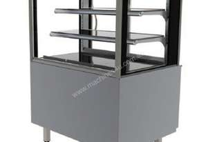 FPG 3C09-SQ-FS-FF-I Refrigerated Square Freestanding Display w/Fixed Front Glass & Integral Condensi