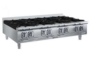 Electrolux Compact Line ACG48TW 8 Burner Gas Cook Top Boiling Top