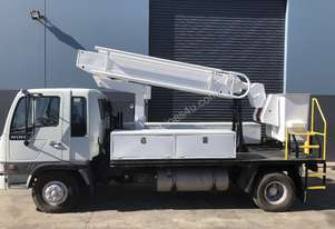 Elevated work platform truck