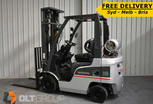 Used Nissan P1F1A18DU Forklift 1.8 ton LPG forklift 5.5m Lift Height Sideshift