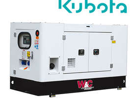 12kVA, 3 Phase, Standby Diesel Generator with Kubota Engine in Canopy - picture0' - Click to enlarge
