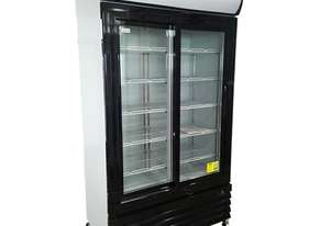 LG-1000BG Large Two Glass Door Colourbond Upright Drink Fridge - Black