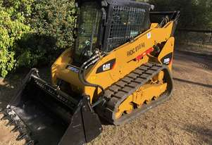 2012 CATERPILLAR 259B3 CTL Compact Track Loader with only 1,499hrs 4in1 Near New Tracks