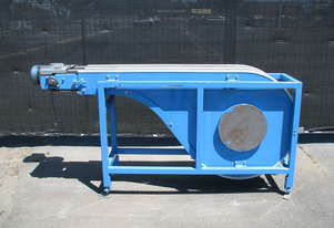Two Belt Twin Lane Motorised Vacuum Conveyor - 1.9m long