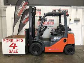 TOYOTA 8FG20 DELUXE S/N 43716 DUAL FUEL LPG/PETROL FORKLIFT 3.7 METER 2 STAGE 2 TON 2000 KG CAPACITY - picture1' - Click to enlarge