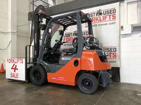 TOYOTA 8FG20 DELUXE S/N 43716 DUAL FUEL LPG/PETROL FORKLIFT 3.7 METER 2 STAGE 2 TON 2000 KG CAPACITY - picture2' - Click to enlarge