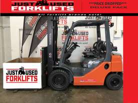 TOYOTA 8FG20 DELUXE S/N 43716 DUAL FUEL LPG/PETROL FORKLIFT 3.7 METER 2 STAGE 2 TON 2000 KG CAPACITY - picture0' - Click to enlarge