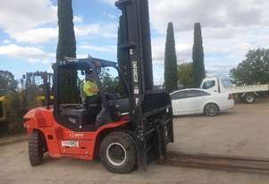 USED 7T DIESEL FORKLIFT WITH LOW 830 HOURS, 6M REACH, SHIFT AND POSITIONING