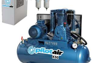K50 Industrial Pilot Air Compressor & TFD-10 Refrigerated Air Dryer Package Deal 268 Litre / 10hp 39