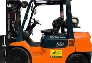 Mitsubishi 4.5 Tonne Forklift with Rotator Attachment LPG EFI Engine 2014 Current Model