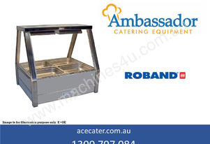 Roband Straight Glass Two Bay Hot Food Display
