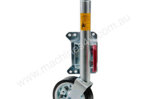 JOCKEY WHEEL 150MM LARGE PIN SWING UP