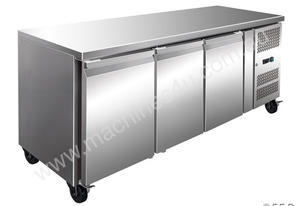 F.E.D. GN3100TN Tropicalised Three Door Under Bench Fridge