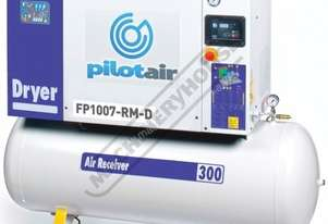 FP1007-RM-D Rotary Screw Air Compressor Includes Integrated Air Dryer 858L/Min. 30.2CFM