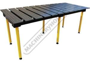 TMD625125 BuildPro Modular Welding Table - Standard Finish Reversible Table Plates 2560 x 1250 x 900