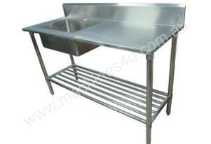 NEW COMMERCIAL SINGLE BOWL STAINLESS STEEL SINK