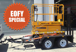 New Haulotte Electric Scissor Lift & Trailer Package | Optimum 8 AC